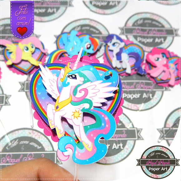 Topper de cupcake My Little Pony