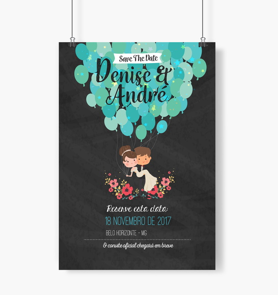 Save The Date Casamento Chalkboard