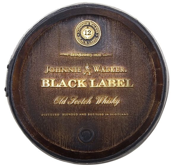 Tampa Barril Decorativo Black Label 26cm