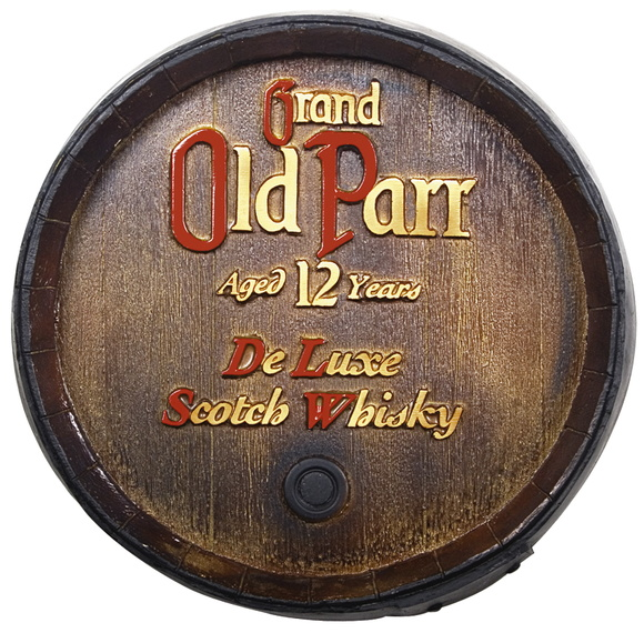 Tampa Barril Decorativo Old Parr 26cm