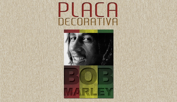 PLACA DECORATIVA - BOB MARLEY - 03