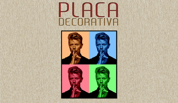 PLACA DECORATIVA - DAVID BOWIE - 01