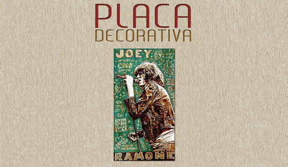PLACA DECORATIVA - RAMONES - 02