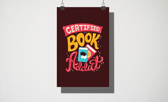 Poster A3 Certified book addict