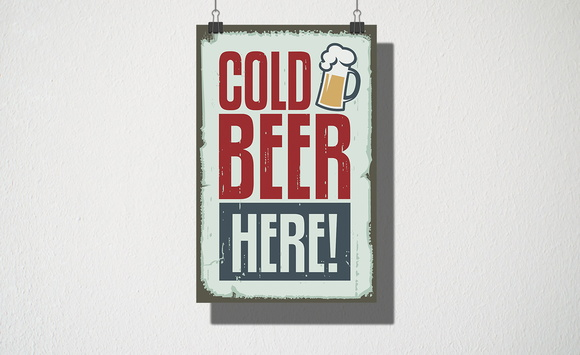 Poster A3 Cold Beer Here