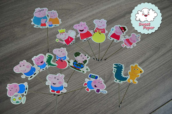 Topper Peppa Pig - Tags