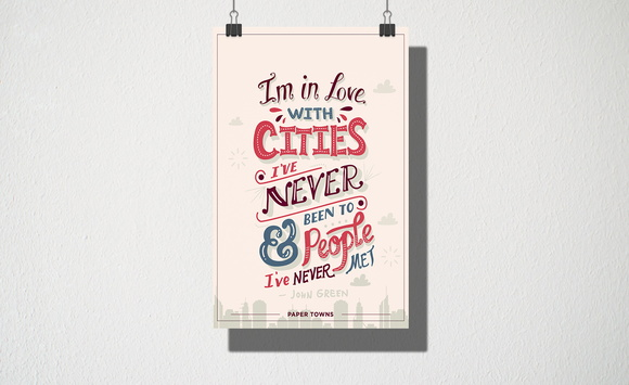 Poster A3 Im in love with cities