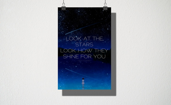 Poster A3 Look at the stars