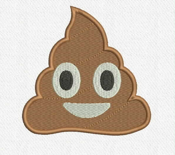 Patch Bordado Termocolante Emoji Coco