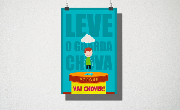Poster A3 Vai chover