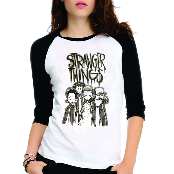Camiseta Stranger Things Kids Raglan 3/4
