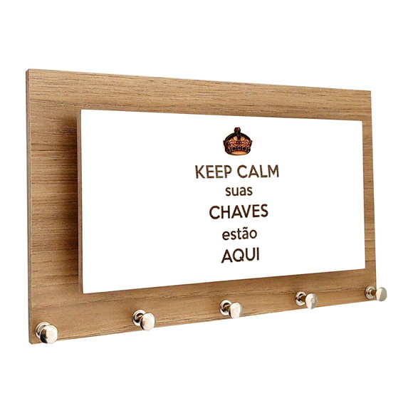 Porta Chaves e Cartas Keep Calm