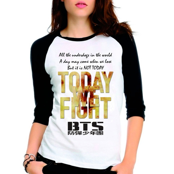 Camiseta Bts Bangtan Boys Not Today 3/4