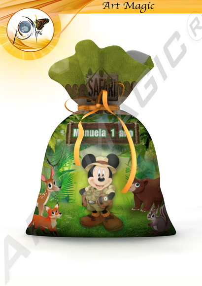 Saquinho surpresa Mickey Safari 2 20x15