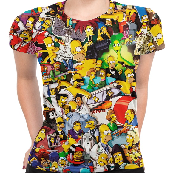 Baby Look Feminina Os Simpsons MD02
