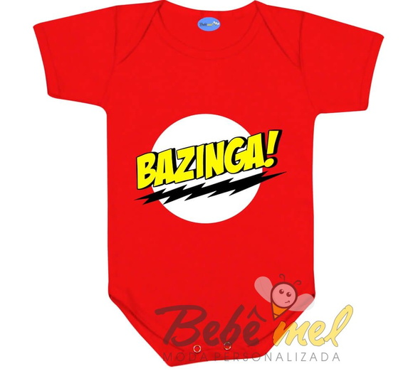 Body Bebê Divertido Bazinga Geek