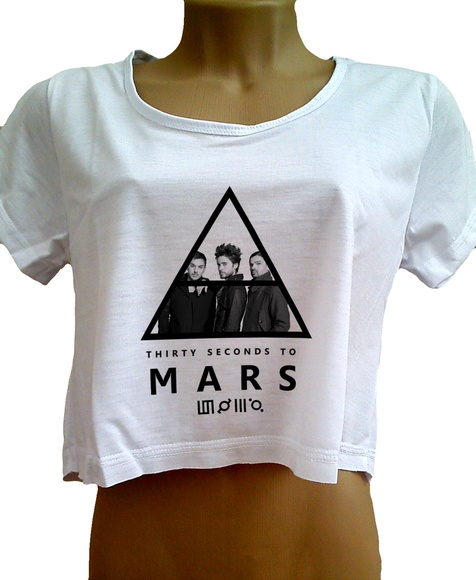 Cropped 30 Seconds To Mars Feminina