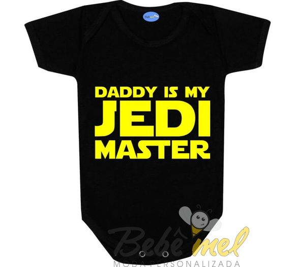 Body Bebê Divertido Star Wars Geek Jedi