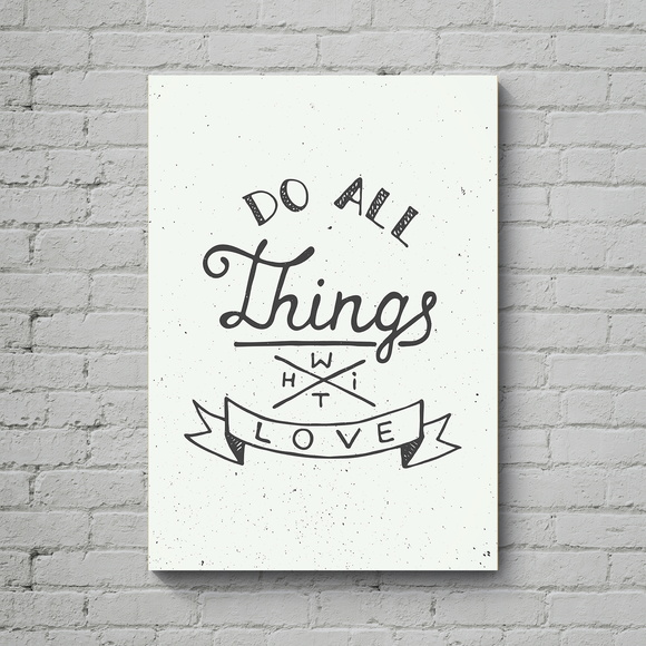 Quadro Poster Mdf Do All Things