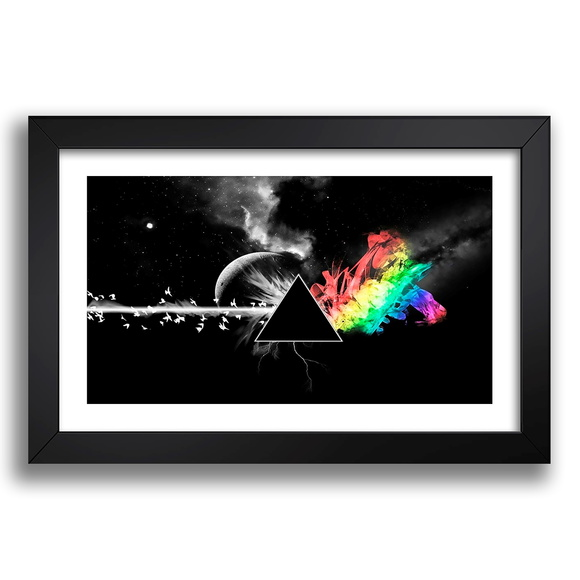 Quadro Pink Floyd 67x47 Dark Side Musica