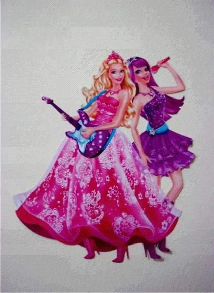 Aplique da Barbie Princesa e Pop Star.