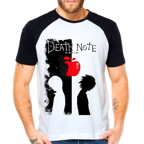 Camiseta Anime Death Note Raglan