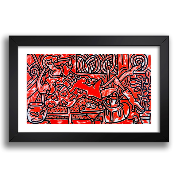 Quadro Keith Haring 67x47cm Pop Artist