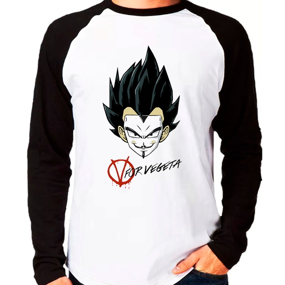 Camiseta Dragon Ball Z V For Vegeta Rag