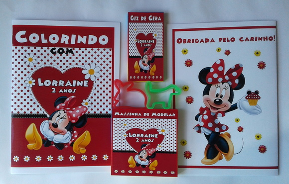 Kit Colorir + Massinha 2 Moldes Minnie
