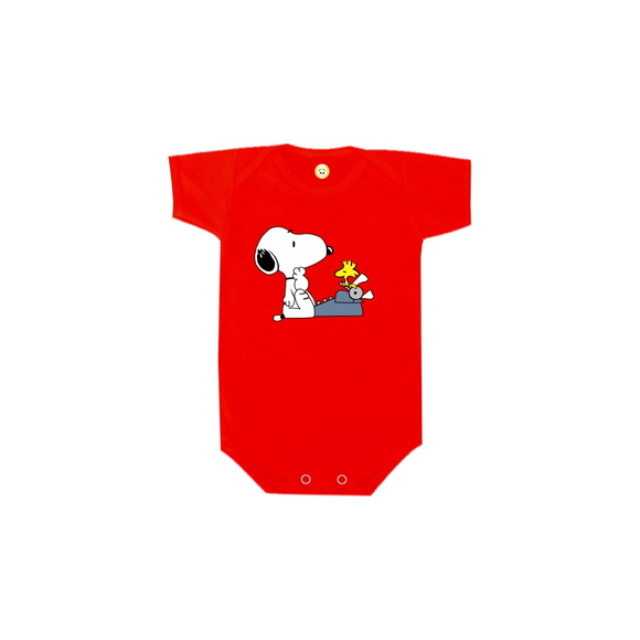 Body OU Camiseta Snoopy e Woodstock