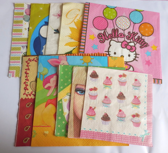 Kit com 10 Guardanapos para Decoupage