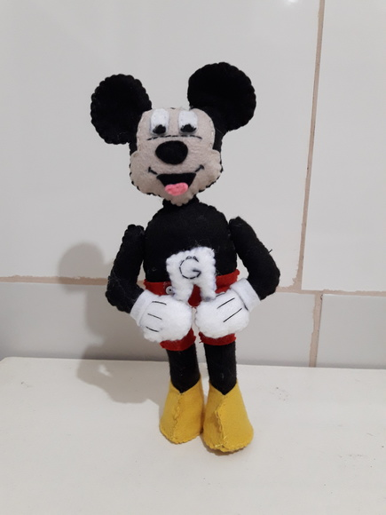 Minnie e Mickey de feltro