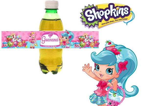 Rótulo guaraná shopkins