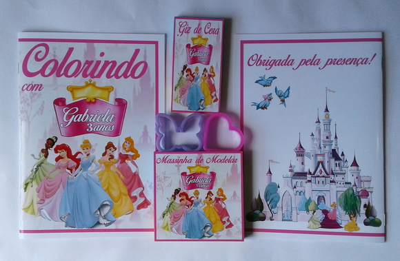 Kit Colorir + Kit Massinha Princesas