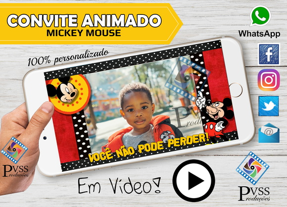 VIDEO CONVITE ANIMADO - MICKEY MOUSE