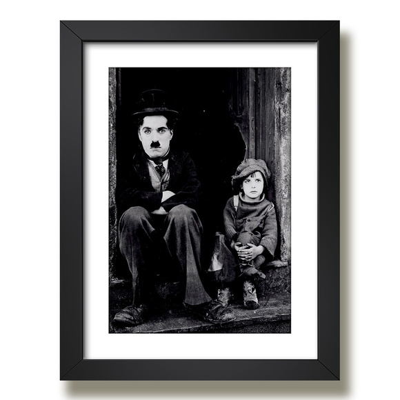 Quadro Charlie Chaplin Filme The Kid g5