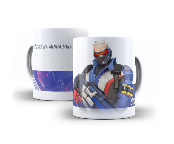 Caneca Soldado 76 Overwatch 325ml