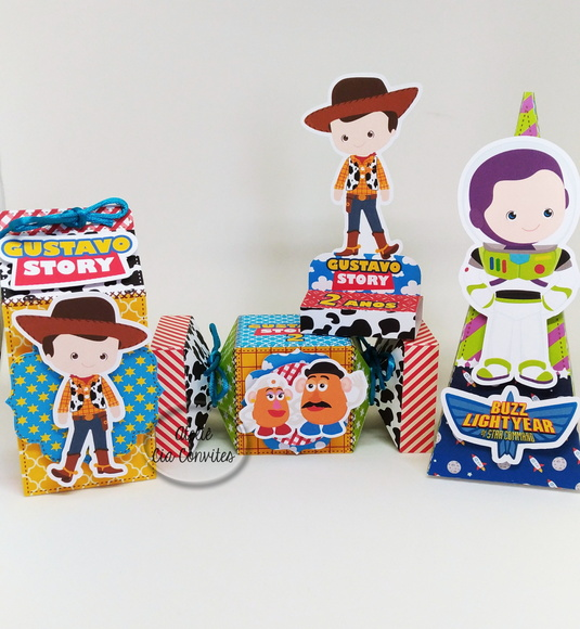4 caixas Toy Story Cute