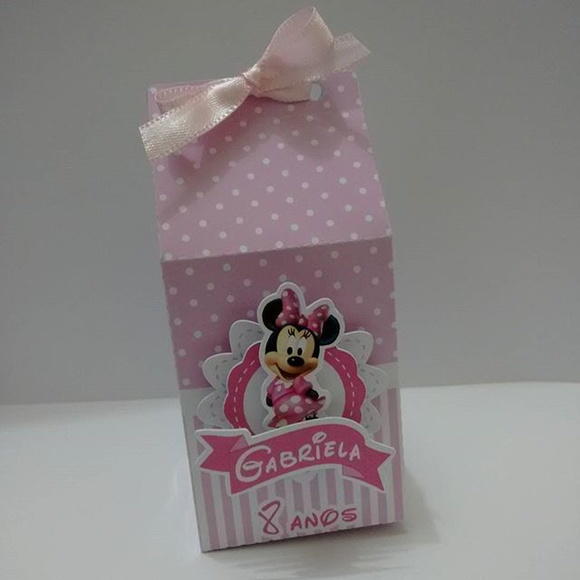 Caixa Milk - MInnie -3D