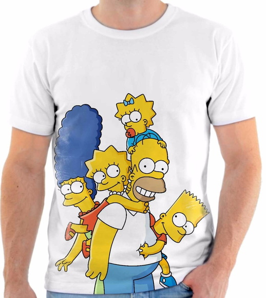Camiseta Os Simpsons familia