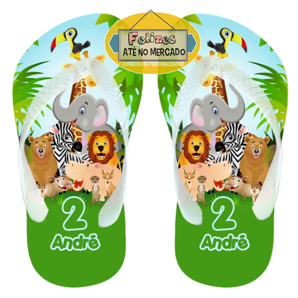 Chinelo Safari Bichinhos da Floresta!