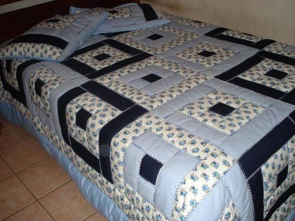 Colcha em patchwork de casal no elo7 roselene colchas - Patrones para colchas de patchwork ...