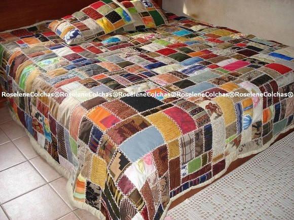 Colcha em patchwork de tape aria roselene colchas - Colchas de patchwork modernas ...