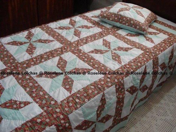 Colcha em patchwork solteiro roselene colchas patchwork - Colchas de patchwork modernas ...