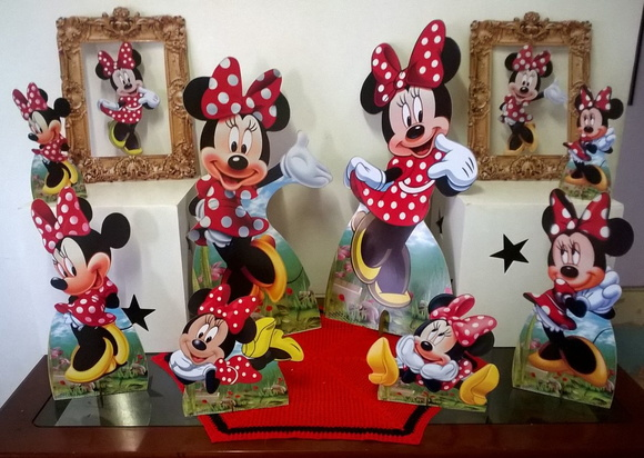 Kit completo Minnie vermelha / mdf