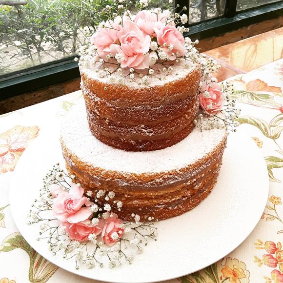 Naked cake flores e frutas | Madame Lili | Elo7