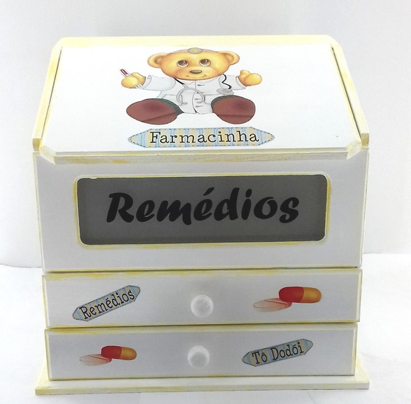 Farmacinha Porta Remedio Cx.Mdf Decorada