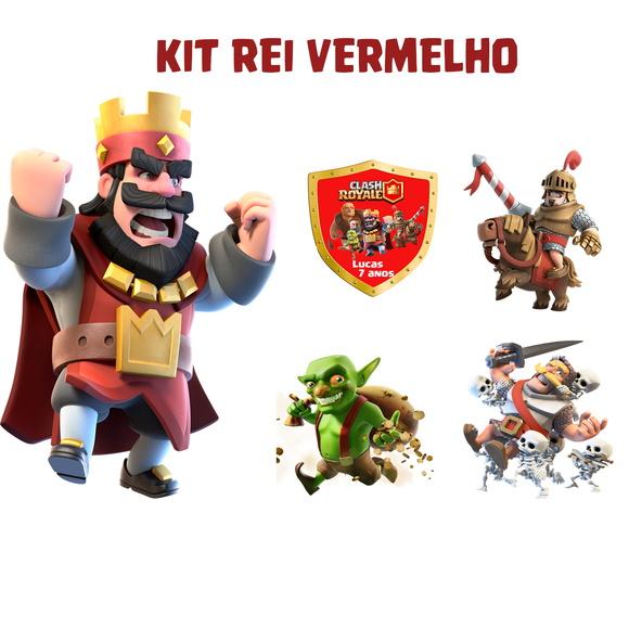 Kit Clash Royale Rei Vermelho Mdf Elo7