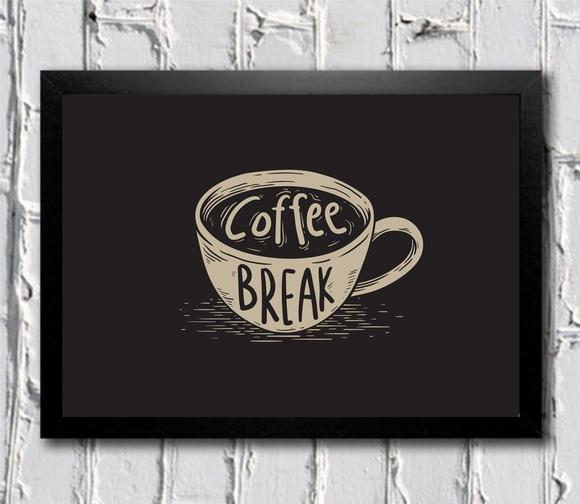 poster com moldura coffee break no elo7 moldposter 9ee30b. Black Bedroom Furniture Sets. Home Design Ideas