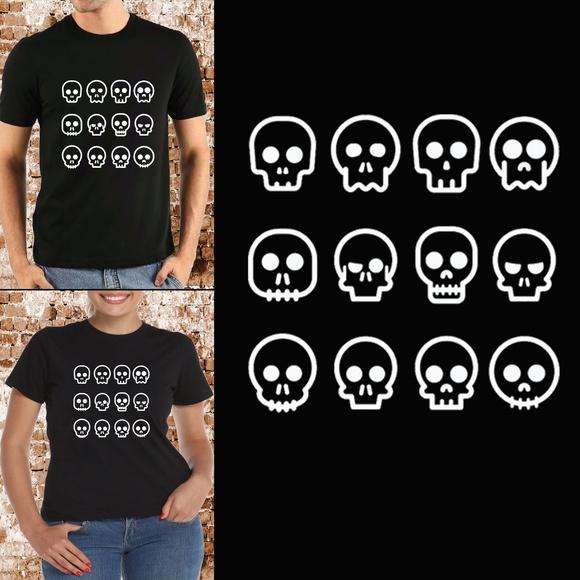 Camisa Algodão Caveira  0a7a96e110c24